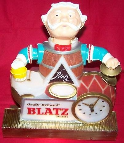 Blatz Beer Lighted Cash Register Beer Clock