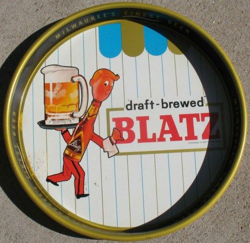 Vintage Blatz Beer Serving Tray