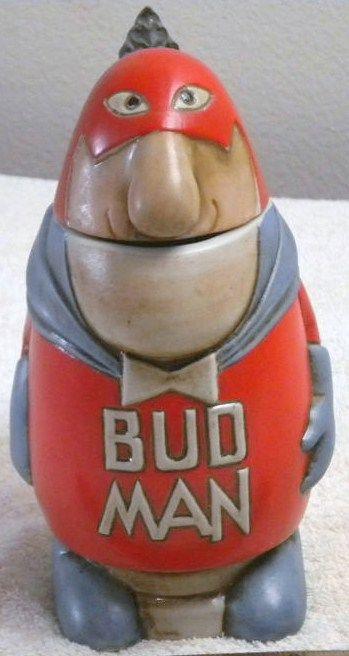 Vintage Bud Man Budweiser Stein Mug Original 1975