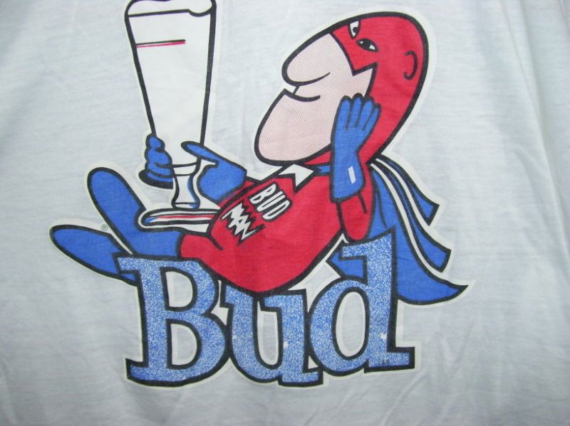 Bud Man Logo on Shirt 1970's