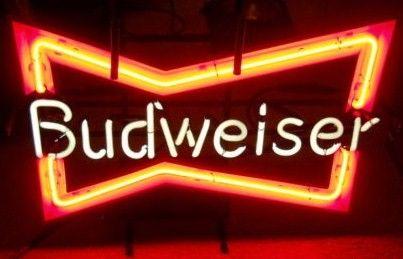Vintage Budweiser Bowtie Neon Sign