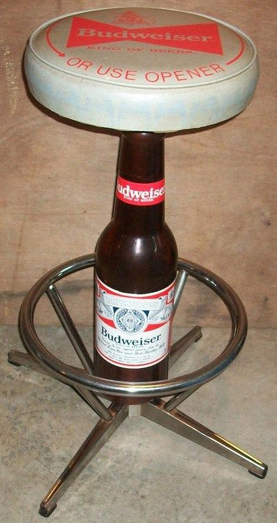 Vintage Budweiser 32 inch Stool