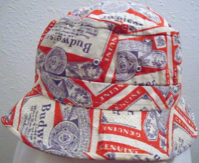 Vintage Budweiser Beer Bucket hat