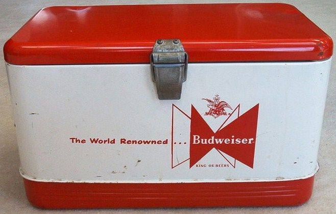 Vintage Budweiser Beer Cooler