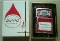 Budweiser Beer Zippo Cigarette Lighter in Box