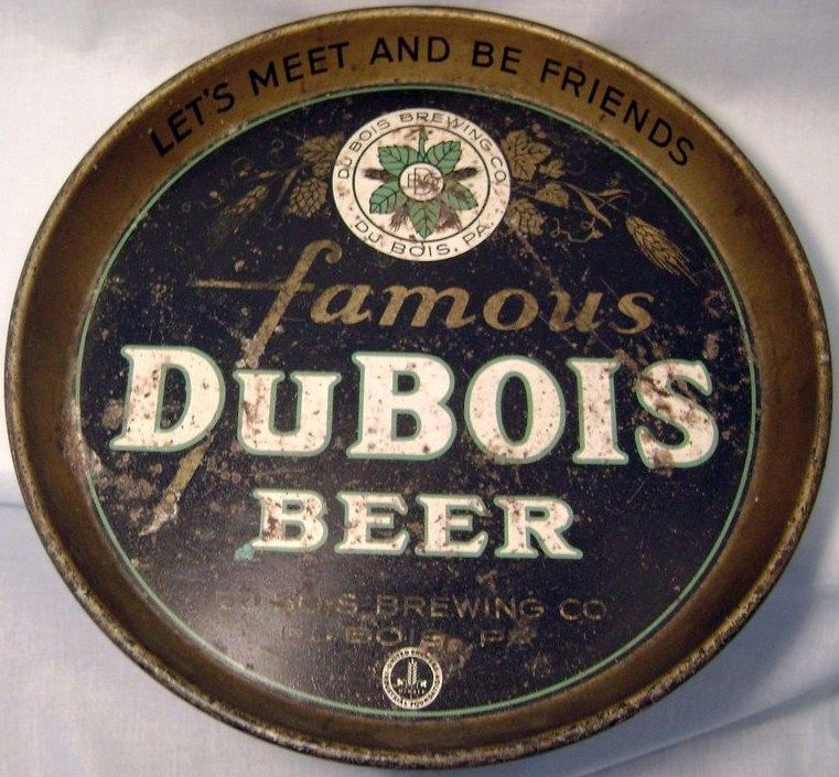Vintage Budweiser DuBois Brewing Company Beer Tray Export
