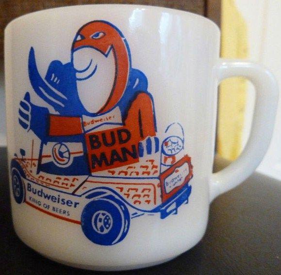Vintage Budweiser Federal Mug Bud Man
