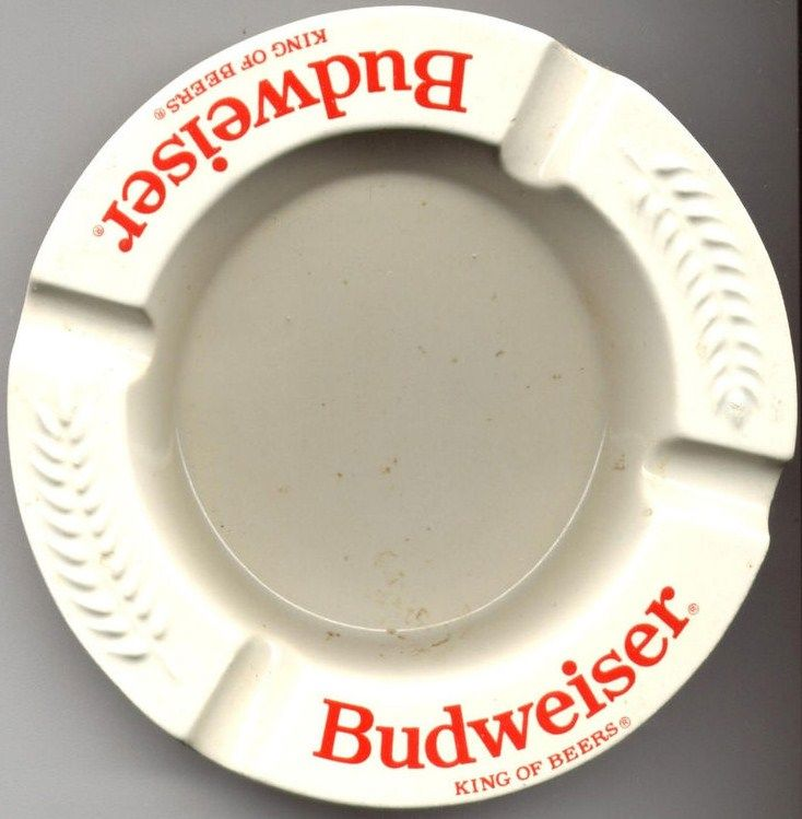 Vintage Budweiser King of Beers Haeger Ashtray 5 inch