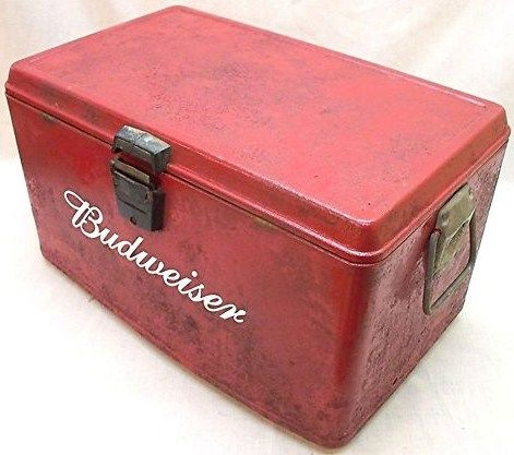 Vintage Budweiser Steel Beer Cooler