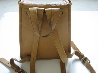 Vintage Coach Womens Backpack Tan Back