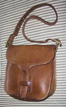 Vintage Coach Brown Leather Messenger Bag