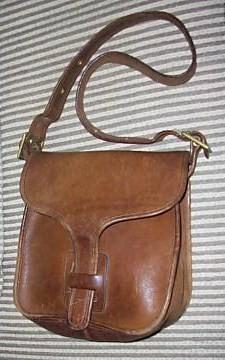 Vintage Coach Brown Leather Messenger Bag