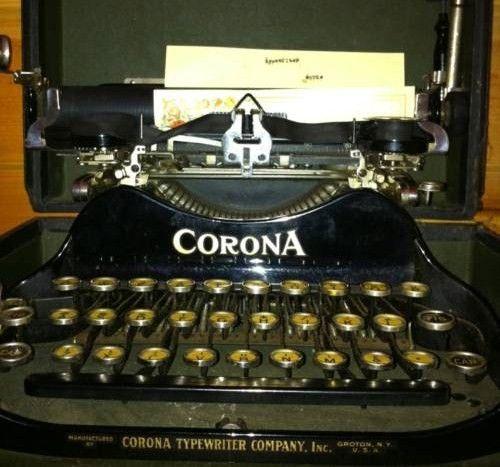 Vintage Corona Typewriter 1904