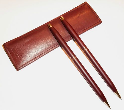 Vintage Cross Century Classic Ladies Burgandy Pen/Pencil Set/24k Trim