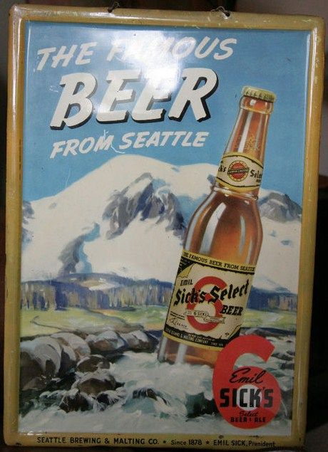 Vintage Emil Sick's Select Beer Sign