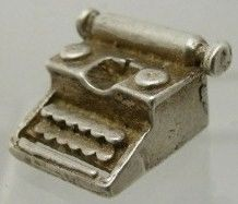Vintage English Silver Little Typewriter Charm