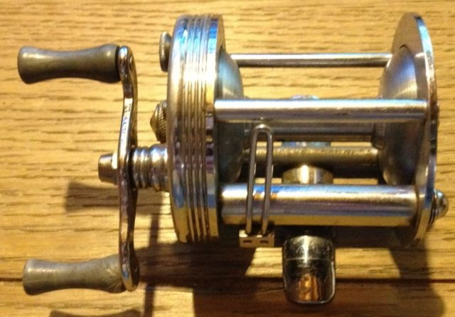 Vintage Engraved Fishing Reel JC Higgins Model #488 No. 312-3108