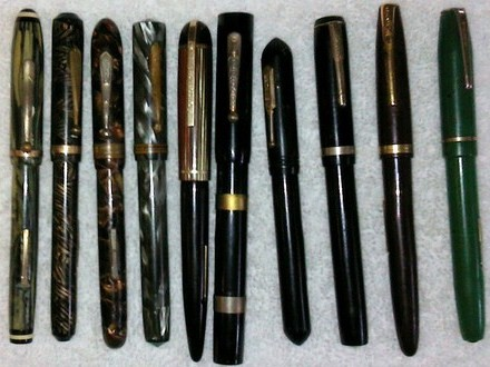 Vintage Estate Fountain Pen Lot/Eversharp, Skyline, Packard