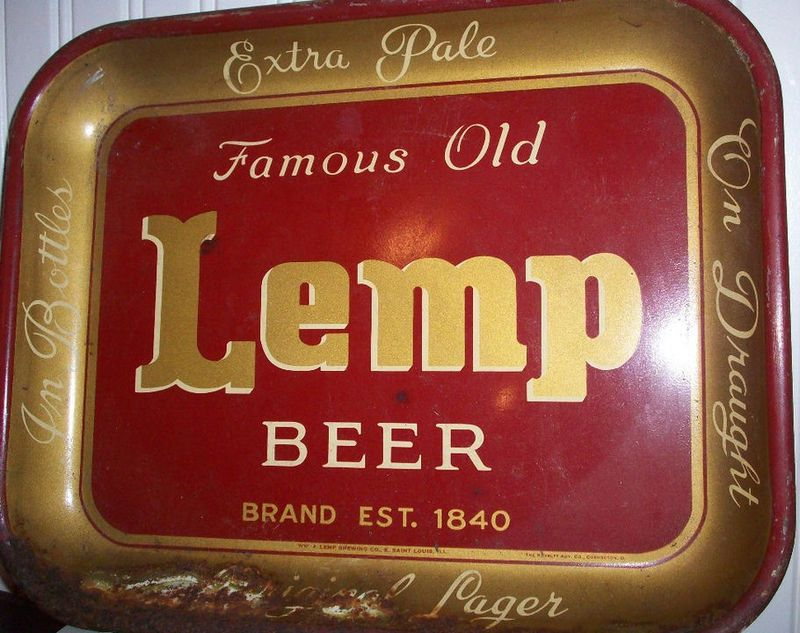Collectible Famous Old Lemp Beer Serving Tray