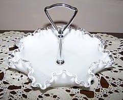 Fenton Vintage Silver Crest Bonbon Candy Dish