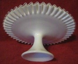 Vintage Fenton Silver Crest Spanish Cake Dish Plate