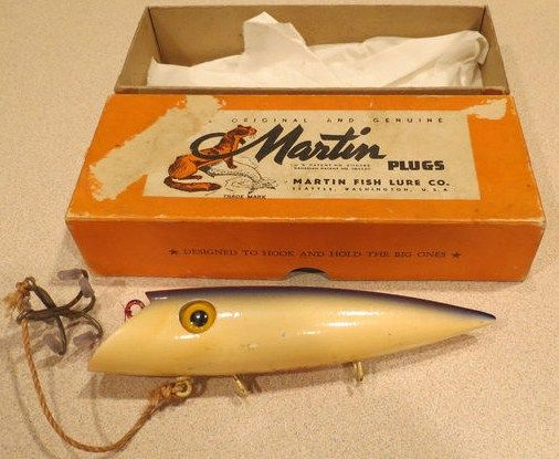 vintage fishing lures w box | collectible antique lure packaging -, Fishing Bait