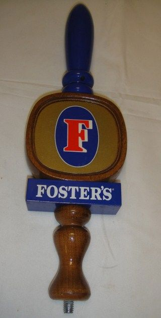 Vintage Fosters Wood Beer Tap Handle