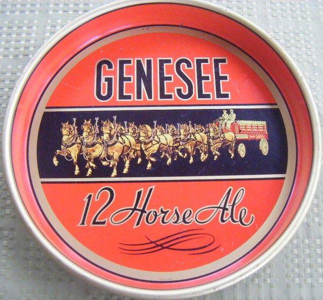 Vintage Genesee 12 Horse Ale Beer Tray