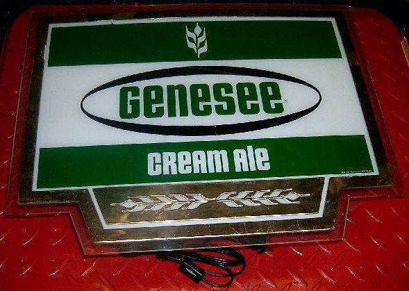 Vintage Genesee Cream Ale Lighted Beer Sign