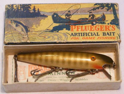 Vintage Pflueger Pal-O-Mine Glass Eyes Lure with Box