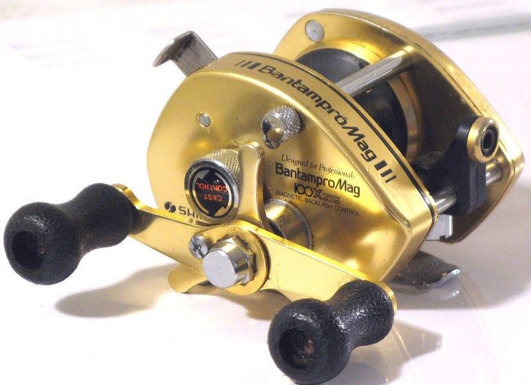 Vintage Gold Shimano Bantam Pro Mag 100XSG RH Professional