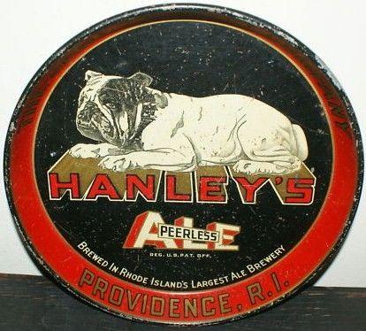Vintage Hanley's Peerless Ale Metal Beer Tray