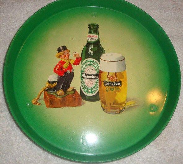 Vintage Heineken Beer Tray