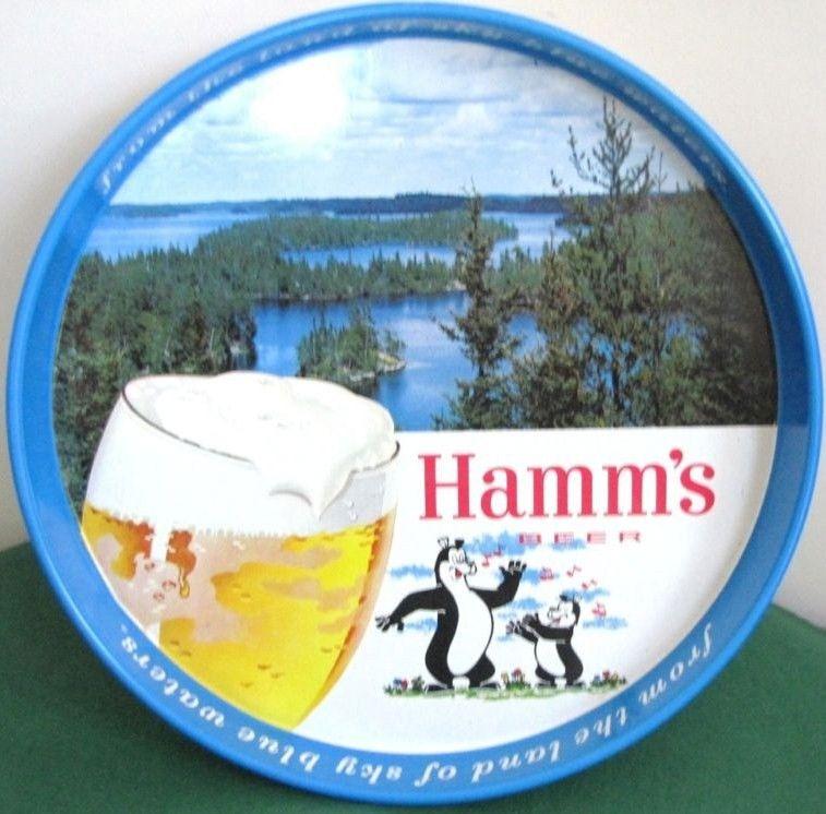 Vintage Hamm's Beer Round Tray