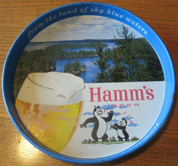 Vintage Hamms Beer Serving Tray