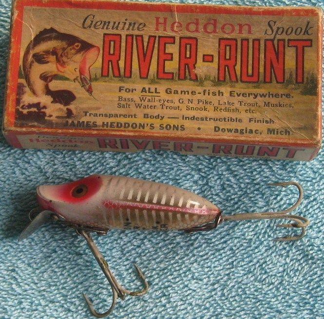 Vintage Heddon River Runt Spook Sinker 9112XS in Box