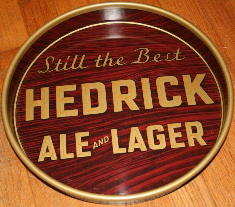 Vintage Hedrick Beer Tray