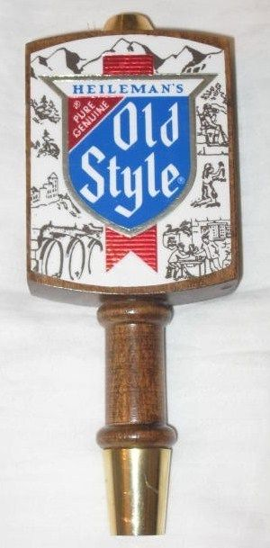 Vintage Heileman's Old Style Beer Tap Handle