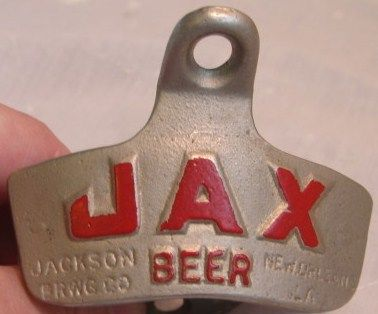 Vintage JAX Beer Wall Mount Stationary Bottle Opener