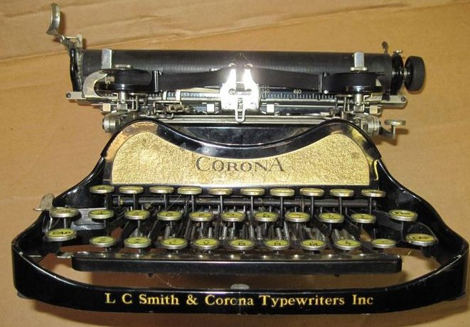 Vintage LC Smith Corona Folding Typewriter