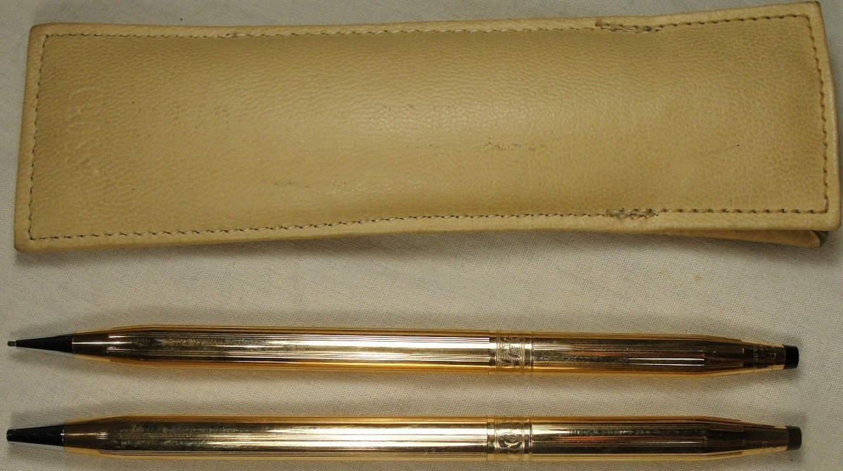 vintage Ladies cross 14K Gold Filled Pen/Pencil set