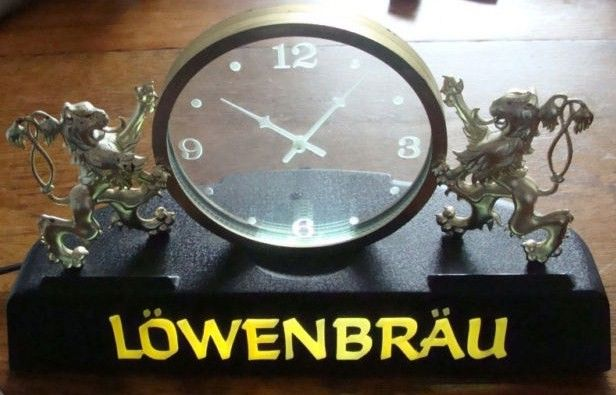 Vintage Lowenbrau Special Beer Sign Clock
