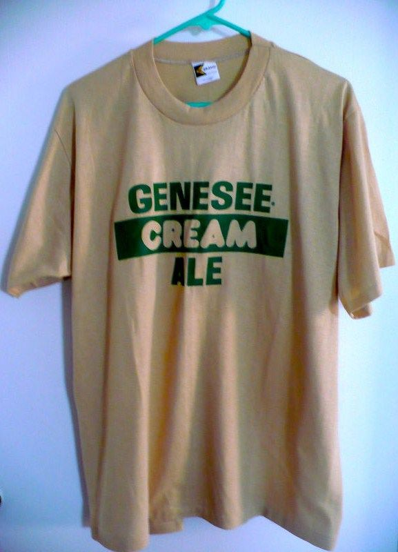 Vintage Mes Tan Green Genesee Cream Ale Shirt