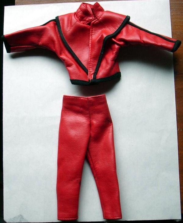 Vintage Michael Jackson Doll Figure Thriller Clothes