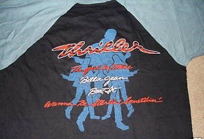 Vintage Michael Jackson Jersey Shirt Thriller XL 80's