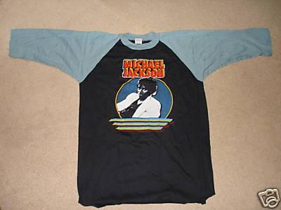 Vintage Michael Jackson Jersey Shirt Thriller XL 80's Front