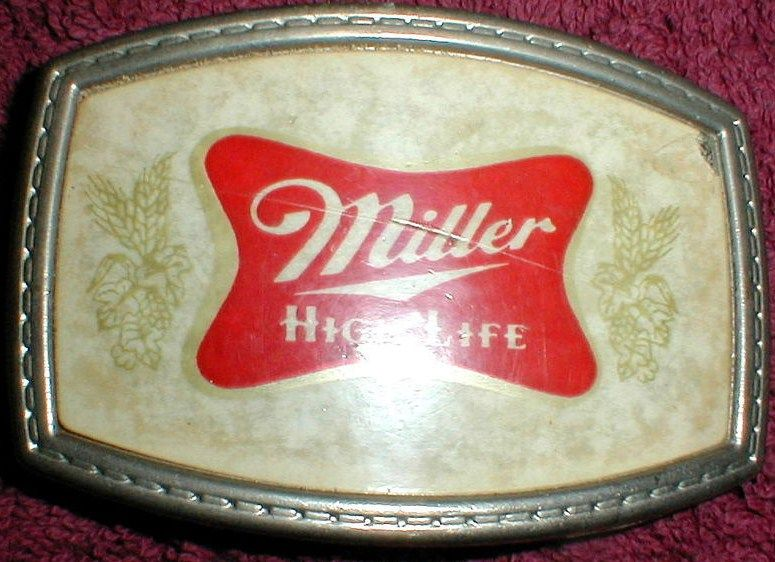 Vintage Miller High Life Beer Belt Buckle