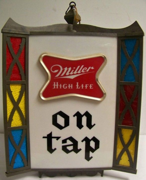 Vintage Miller High Life Hanging Beer Clock