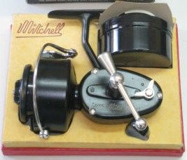 Vintage Mitchell Garcia 300 Fishing Reel w/Box & Papers
