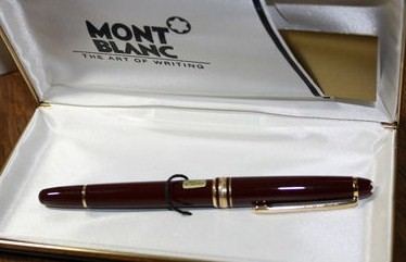 Vintage Montblanc 163 Burgundy Rollerball Pen West Germany